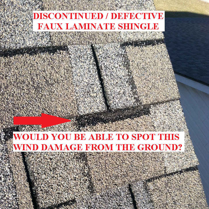 Discontinued and Defective Shingles in Lexington KY