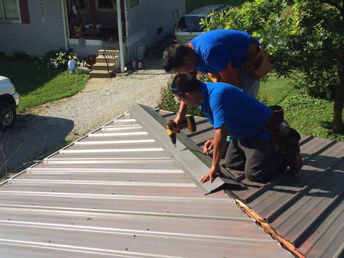 Metal Roof Installation In Lexington Ky Lexington Blue