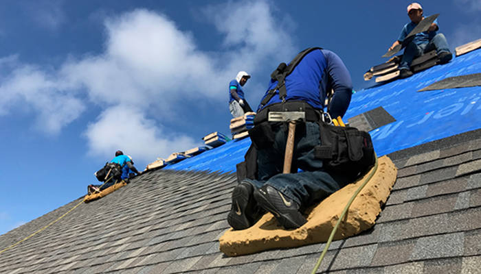 lexington blue crew installing shingles 5-19-17