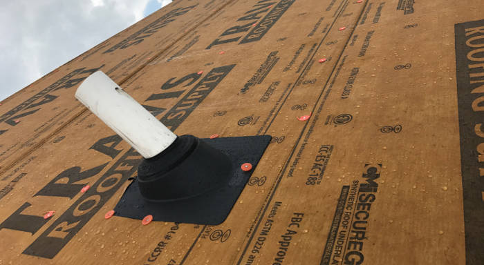 synthetic underlayment installed 8-25-17