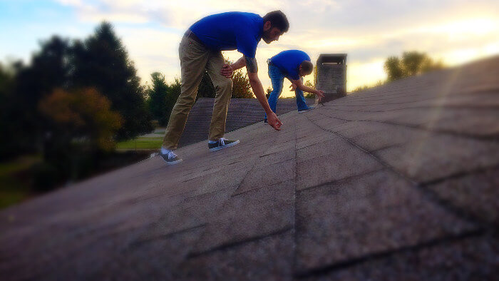 inspecting roof before winter