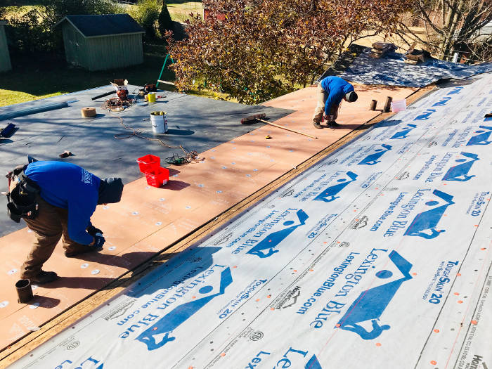 installing flat roof 10-13-17