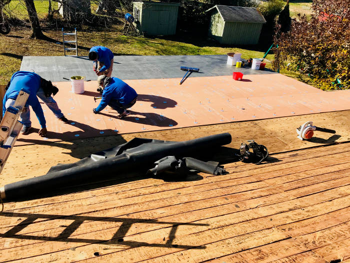 preparing surface for flat roof install 10-13-17