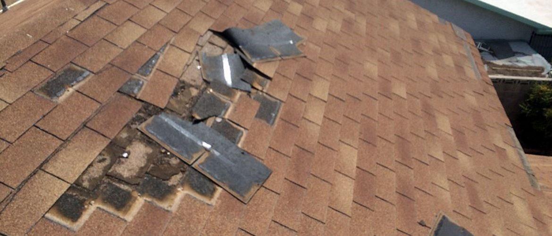 water damage roof leak