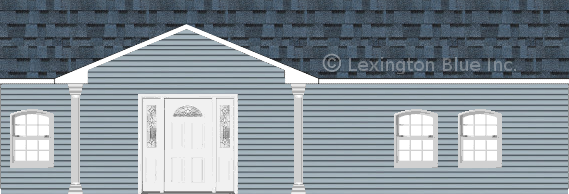 blue vinyl siding home harbor blue colored shingle