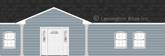 blue vinyl siding home onyx black colored shingle