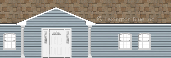 blue vinyl siding home sand castle colored shingle