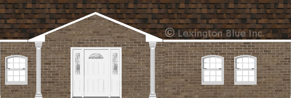 brown brick house brownwood colored shingle