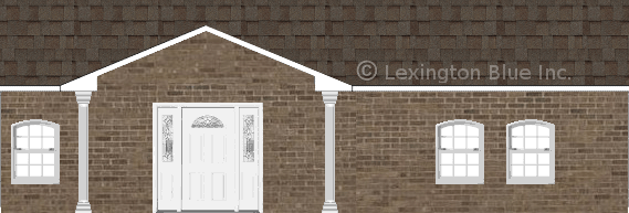 brown brick house tweak colored shingle