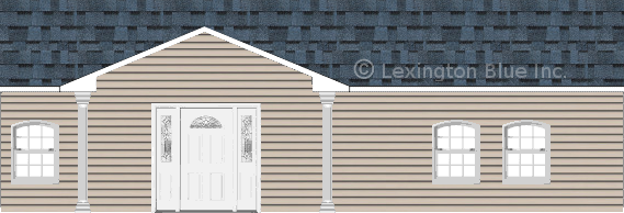 gray vinyl siding home harbor blue colored shingle