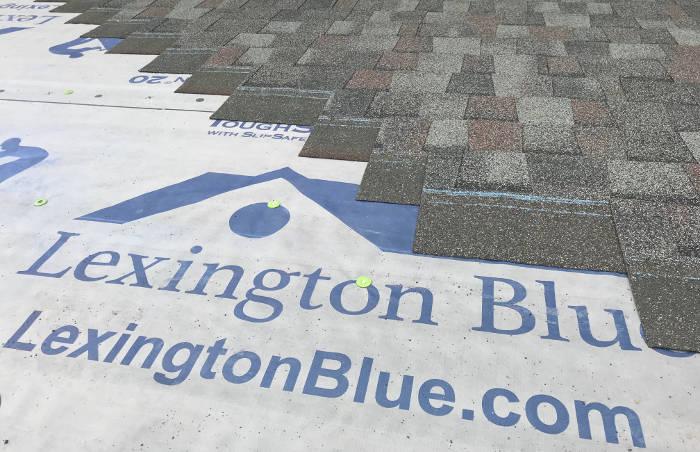 lexington blue installing architectural shingles
