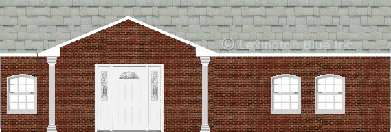 red black brick house shasta white colored shingle