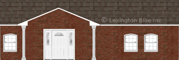 red black brick house tweak colored shingle