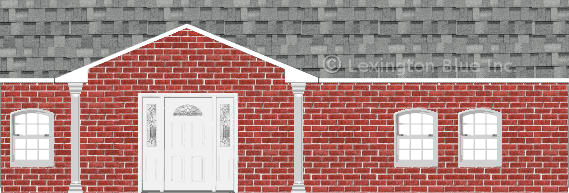 red brick house sierra gray colored shingle