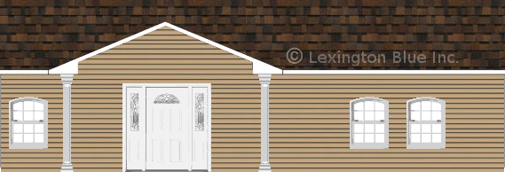 tan vinyl siding home brownwood colored shingle