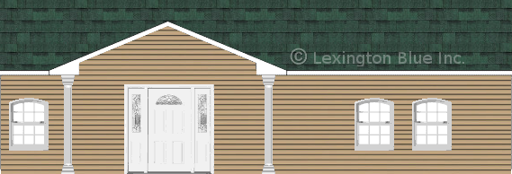 tan vinyl siding home chateau green colored shingle