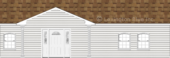 white vinyl siding home desert tan colored shingle